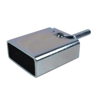 Isolatordrager av stål. For montering av isolatorer til strømgjerder. Passer til elektriske verktøy som f.eks. drill.