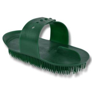 hesteutstyr børste plast grønn