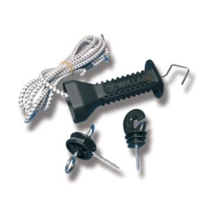 porthåndtak til strømgjerde og elektrisk gjerde elastisk 4.9m